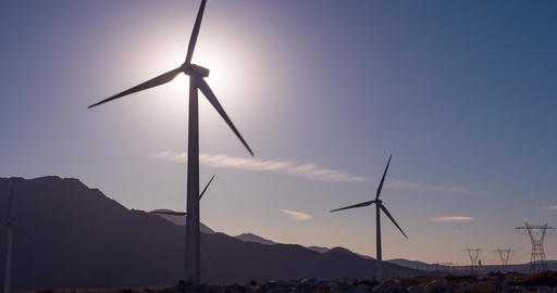 Sunset Wind Farm California ビデオ