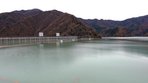 Ogochi Dam or Lake Okutama Footage