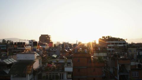Sunrise in Kathmandu Footage