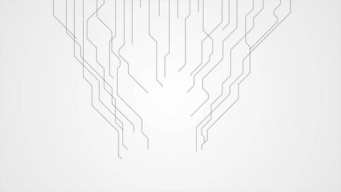 Abstract grey tech circuit board lines motion design Animation