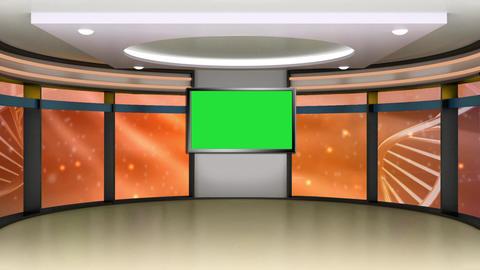 News Tv Studio Set 279 - Virtual Green Screen Background Loop Footage