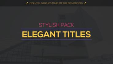 Modern Titles Pack Motion Graphics Template