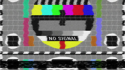 No Signal - Bad TV - Glitch CG動画素材