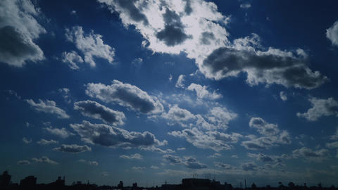 Sky Tokyo Time-lapse 空 雲 太陽 微速度 タイムラプス11 Footage