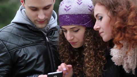 Friends smartphones share new item Footage