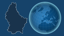 Luxembourg and Globe. Solids Animation