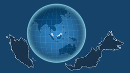 Malaysia and Globe. Solids Animation