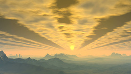 Sunrise through clouds Animation