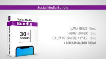 Social Media Bundle Premiere Proテンプレート