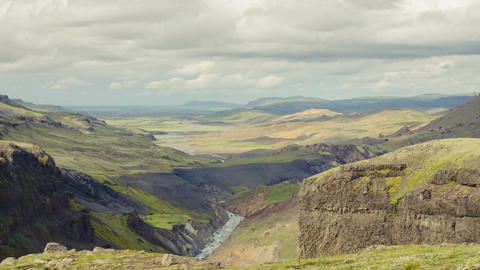 Canyon Haifoss, Iceland Footage