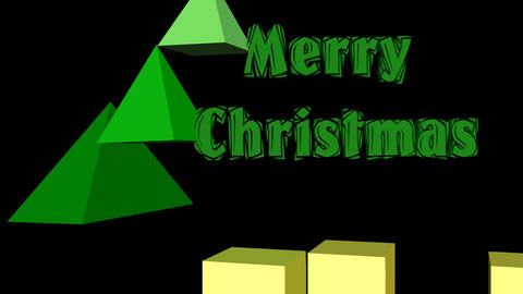 Modern christmas animation, 3d christmas tree composed of pyramids, animated CG動画素材