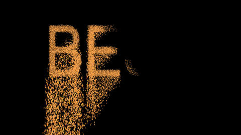 text BEST appears from the sand, then crumbles. Alpha... Stock Video Footage