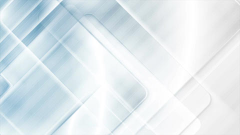 Abstract blue and grey tech glossy squares motion design Animation