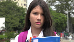 Unemotional Girl Student Footage