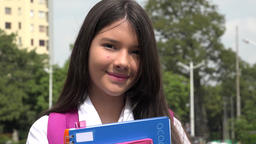 Latina Girl Student And Happiness Footage