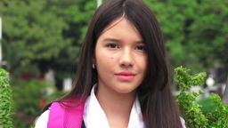 Winking Latina Female Student Live Action