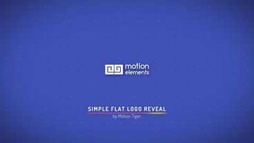 Simple Flat Logo Reveal After Effects Template