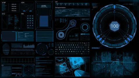 HUD Screen - Broadcast - Sci-Fi - 4K Animation