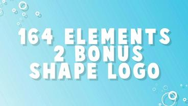 Shape Motion Pack (164 Elements) After Effects Template