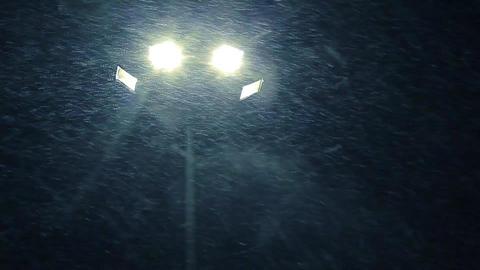 Street lamp shines Footage