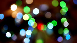 Loopable abstract motion circle bokeh lights Footage
