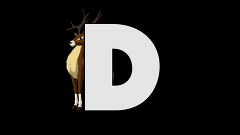 Letter D and Deer (background) Animation