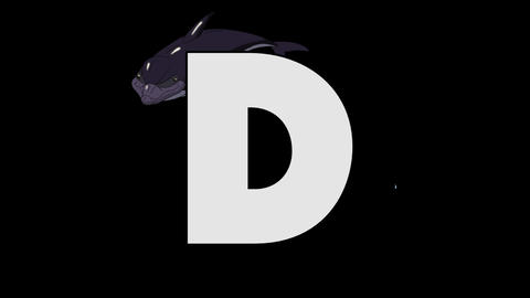 Letter D and Dolphin (background) Animation
