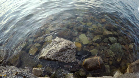 Rocks and water from above Stock Video Footage