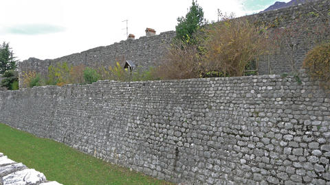 Ancient City Wall in Venzone Footage