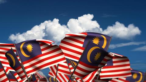 Waving Malaysian Flags Animation