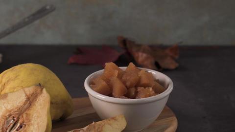 Marmalade in a ceramic bowl Footage