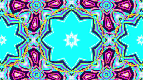 Colorful Kaleidoscope Video. 3D Rendering CG動画素材