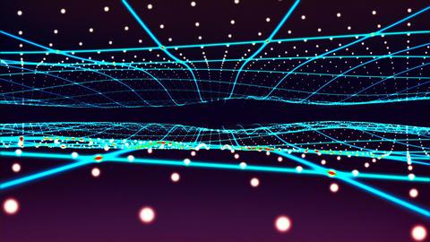 Flying through stars. 3D rendering Videos animados