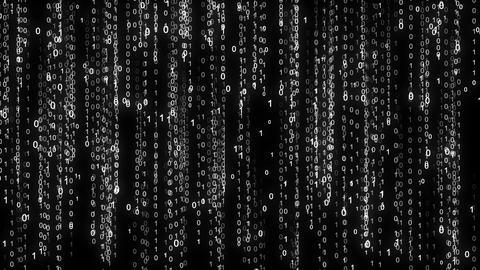 Binary rain. Abstract backdrop background. Digital Data Stream Matrix Effect ビデオ