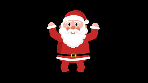 Santa Sends Greetings. Loopable animation GIF