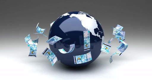 Global Business with Kazakh Tenge Animation
