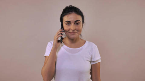 bored female telephone Footage