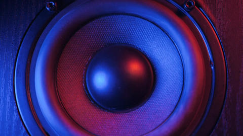 loudspeakers in dj shop.Buy hifi sound system Live Action