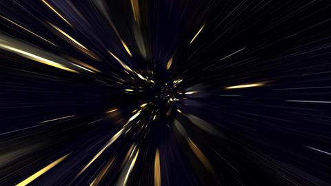 Travel Through a Golden Vortex in Light Speed Live Action
