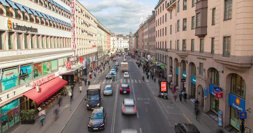 Stockholm, Sweden Day road traffic timelapse Footage