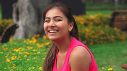 Smiling Happy Laughter Love Female Teen Footage