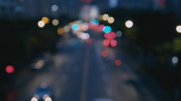 City night view, out of focus Footage