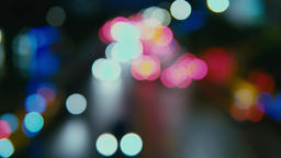 City night view, out of focus ビデオ