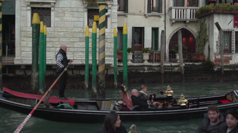 Venice Canals Buildings Streets Tracking from Gondola 4K Footage