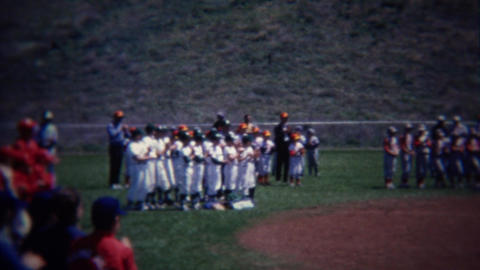 1972: Little league baseball team awards ceremony tournament end Footage