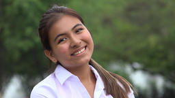 Smiling Peruvian Female Teen Live Action