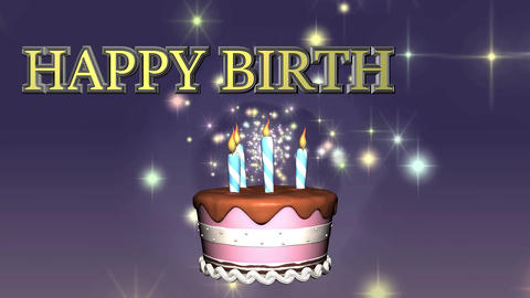 Happy Birthday Cake Animation