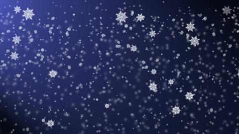 Snow falling from the night sky, holiday's background with snowfall Animation