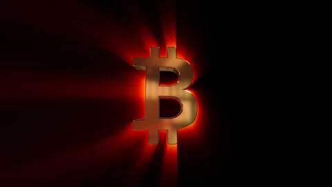 Glowing bitcoin Animation