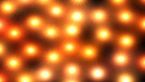 Orange lights pulse on screen loop Live Action
